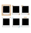 Polaroid frames vector image