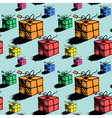 Seamless christmas gift box pattern doodle style vector image