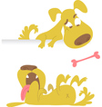 Collection cartoon dogs vector image vector image