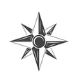 Wind Rose Compass Black icon logo element flat vector image