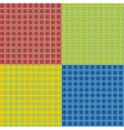 Set of tartan seamless patterns vector image