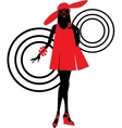 Seventies fashion woman silhouette vector image