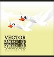 Swan flying vector image vector image