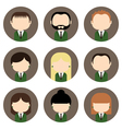 Set of colorful office people icons vector image