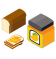 3d design for bread and mango jam vector image