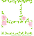 green leaf border set vector image