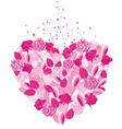 heart flower vector image vector image