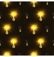 Electric bulbs in the dark seamless pattern vector image