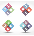 Abstract Emblem with Arrows vector image