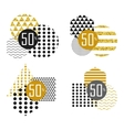black white gold sale sticker vector image