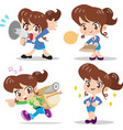 cartoon character woman vector image