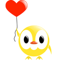 chick and heart vector image