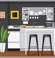 cool modern kitchens vector image