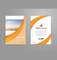 cover annual report vector image
