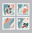 set of abstract christmas cards vector image