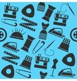 Sewing color pattern vector image vector image