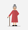 Grandma standing full length smiling vector image