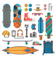 skateboard fingerboard icon sport equipment vector image