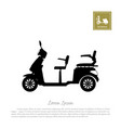 black silhouette of scooter on white background vector image