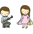 Hobby of boy and girl vector image
