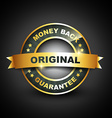 golden mney back guarantee label vector image
