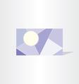 geometric polygonal business card template vector image