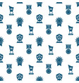 awards trophy and prizes seamless pattern - vector image