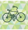 Bicycle on a geometric background vector image