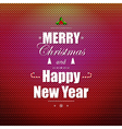 Bright Christmas Greeting Poster vector image