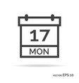 calendar outline icon black color vector image
