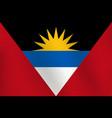 flag of antigua and barbuda - vector image