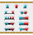 Police or ambulance flasher icons vector image