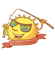 sun character vector image