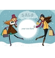 Winter holiday shopping promo vector image