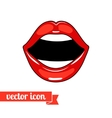 Lips icon 7 vector image