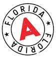 Florida stamp rubber grunge vector image