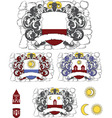 coats of arms vector image vector image