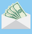 Salary in envelope vector image