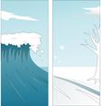 summer winter vector image