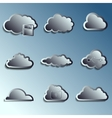 steel 3d clouds vector image