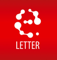 Abstract logo the letter E in the form of drops vector image vector image