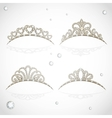 Elegant shiny tiara with precious stones isolated vector image