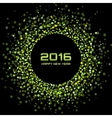 Green Bright New Year 2016 Background vector image