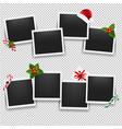 christmas photo frame set vector image