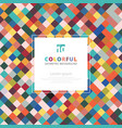 geometric squares abstract pattern colorful with vector image