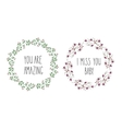 Hand drawn flowers wreath vector image