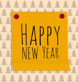 Paper Sticker with Happy Ney Year Greeting vector image