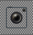 retro camera template vintage photo camera frame vector image