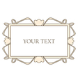 Retro fancy art deco empty frame vector image