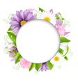 Summer With Color Flower vector image